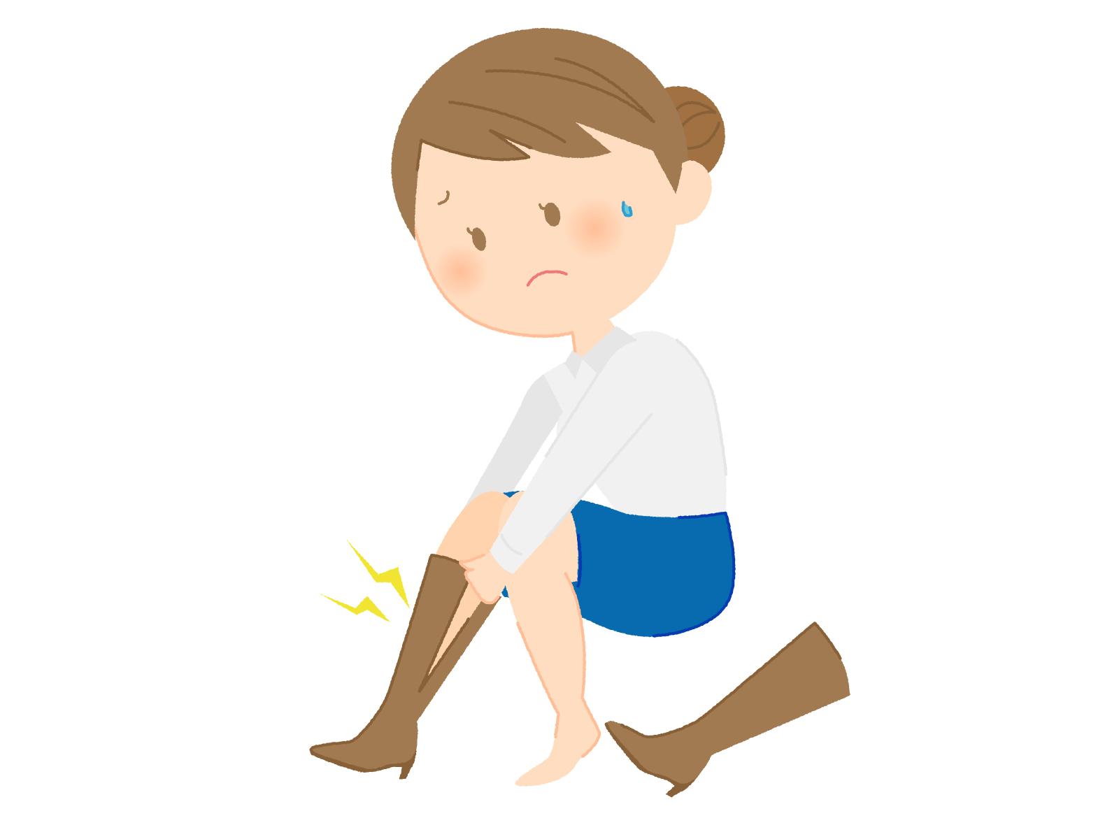 足がむくんでブーツがキツイ女性